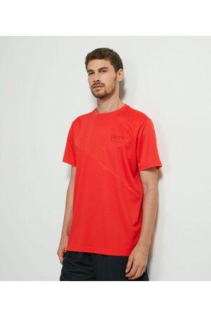 Get Over Homem Camisolas de Manga Curta - Camiseta Esportiva Manga Curta com Recorte       P