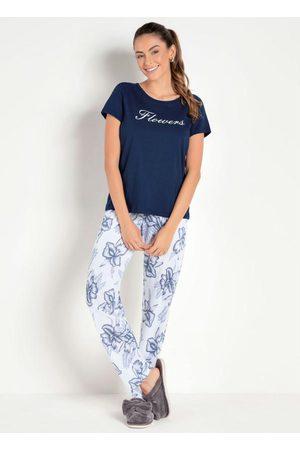 Alma Dolce Pijama com Estampa Floral