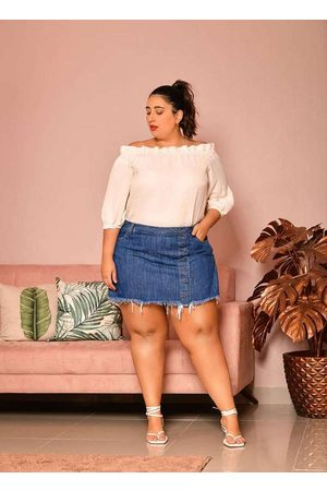 Izzat Mulher Minissaia - Short Saia Almaria Plus Size Jeans