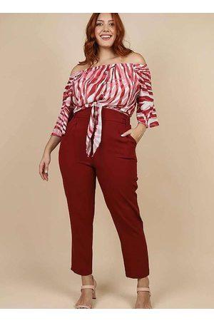 Peri Plus Mulher Blusa - Blusa Estampada Almaria Plus Size Peri