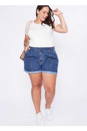 Izzat Mulher Short - Shorts Jeans Almaria Plus Size Cintura Alta
