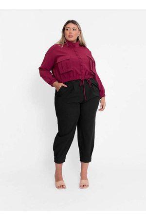 Tal Qual Mulher Jaquetas - Jaqueta Almaria Plus Size Cropped Alfaiat