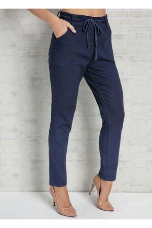 Eventual Mulher Calça Jogger - Calça Jogger Jeans com Elástico no Cós