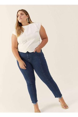 Izzat Mulher Calça Skinny - Calça Almaria Plus Size Super Skinny