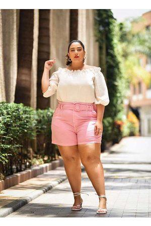 Izzat Mulher Short - Shorts Almaria Plus Size com Cinto