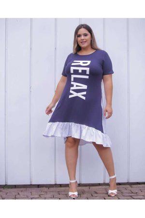 Leeban Mulher Vestido Estampado - Vestido Almaria Plus Size Estampa Localizad