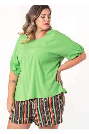Munny Mulher Blusa - Blusa Ampla Almaria Plus Size Detalhe Poster