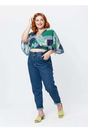 Tal Qual Mulher Blusa - Blusa Cropped Plus Size Ampla