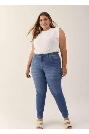 Izzat Mulher Calça Skinny - Calça Almaria Plus Size Jeans Skinny