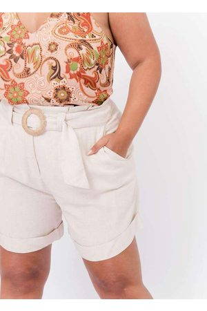 Tal Qual Mulher Short - Shorts Almaria Plus Size Clochard