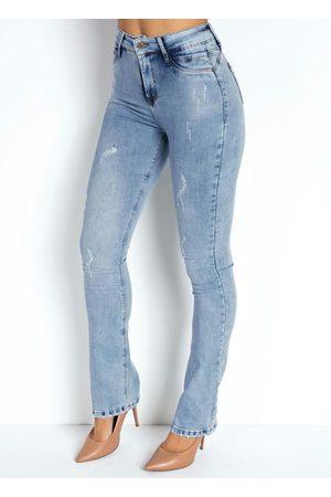 Sawary Jeans Calça Jeans Clara Flare 360º com Cinta Sawary