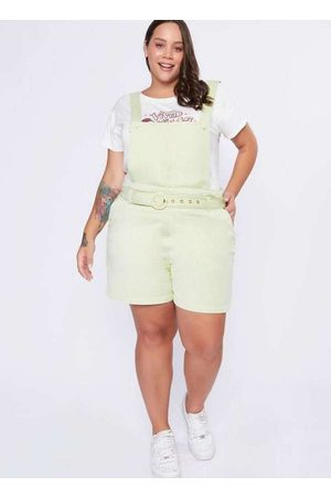 Izzat Mulher Macaquinho - Jardineira Almaria Plus Size Curta