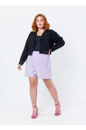 Tal Qual Mulher Blazer - Jaqueta Almaria Plus Size Elástico na Bar