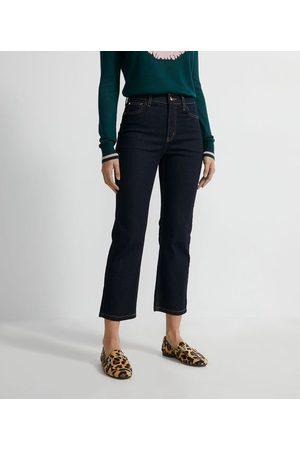 A-Collection Calça Jeans Reta - Calça Reta Jeans com Bordado de Coração no Bolso Traseiro | | | 42