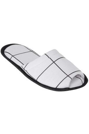 Perfecta Mulher Pantufas - Pantufa Branca em Tecido