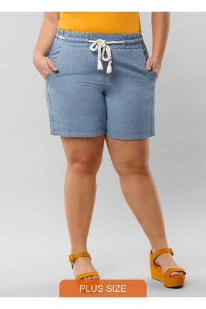 Lunender Mais Mulher Mulher Short - Shorts Sarja