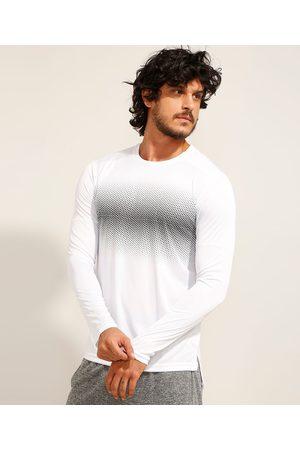 ACE Camiseta Esportiva Manga Longa Gola Careca com Proteção UV 50+ Branca