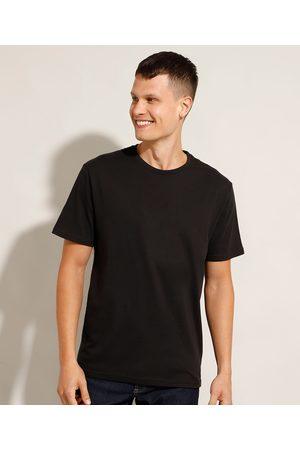 Basics Homem Manga Curta - Camiseta Masculina Básica Manga Curta Gola Careca Preta
