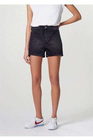 Hering Shorts Jeans Feminino Cintura Alta Soft Touch Pret