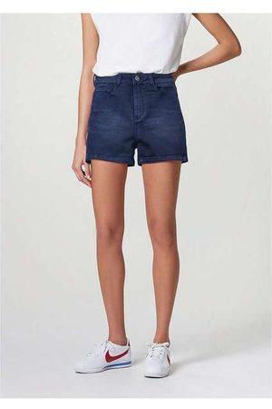 Hering Mulher Short - Shorts Jeans Feminino Cintura Alta Soft Touch