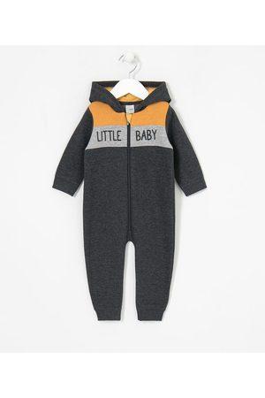 Teddy Boom (0 a 18 meses) Macacão Infantil em Moletom Estampa Little Baby - Tam 0 a 18 meses | | | 0-3M