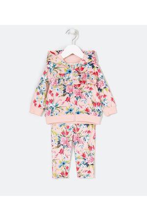 Teddy Boom (0 a 18 meses) Conjunto Infantil Estampa Floral - Tam 0 a 18 meses       0-3M