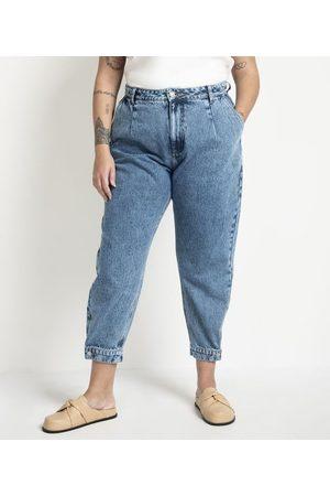 Ashua Curve e Plus Size Calça Jogger Jeans com Botão na Barra Curve & Plus Size | | | 52