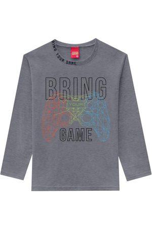 KYLY Camiseta Infantil Masculina Mescla