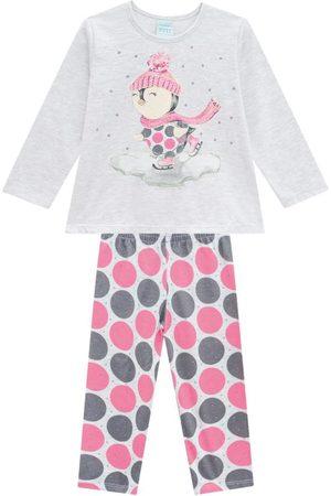 KYLY Pijama Infantil Feminino Mescla