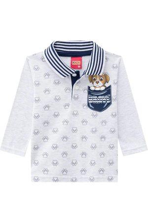 KYLY Camisa Polo Infantil Masculina Mescla