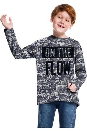 KYLY Menino Camisolas de Manga Curta - Camiseta Infantil Masculina Mescla