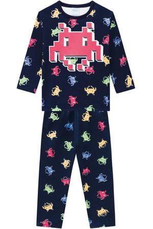 KYLY Menino Pijamas - Pijama Infantil Masculino Marinho