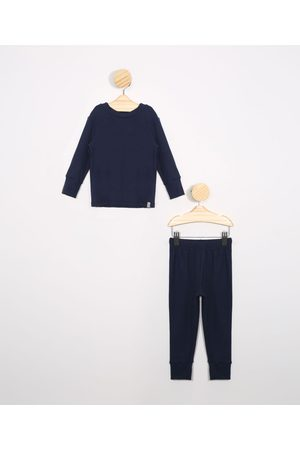 Baby Club Pijama Infantil Canelado Manga Longa Gola Careca