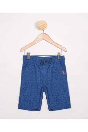 PALOMINO Menino Bermuda - Bermuda infantil de Sarja Estampada de Flechas com Bolsos Azul