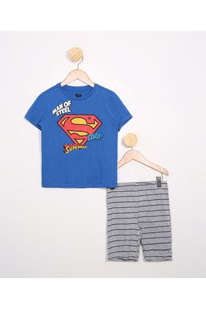 Warner Bros Pijama Infantil Manga Curta Super Homem