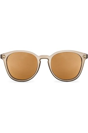Le Specs Bandwagon Sunglasses in Light Grey,Taupe.
