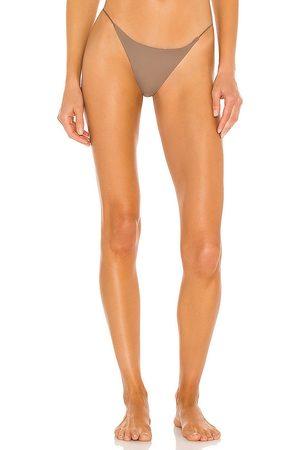 Jade Swim Micro Bare Minimum Bikini Bottom in Taupe. - size L (also in M, S, XS)