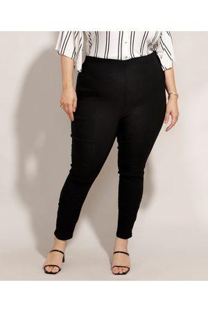 Basics Mulher Calça Legging - Calça Plus Size Legging Cintura Alta Preta