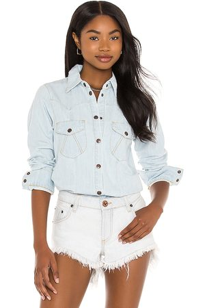 One Teaspoon Fitted Denim Shirt in Blue. - size L (also in M, S, XS, XXS)