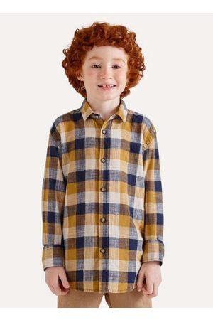 Reserva Mini Menino Camisa Manga Curta - Camisa Mini Pf Xadrez Quadra