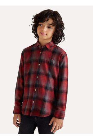 Reserva Mini Menino Camisa Manga Curta - Camisa Mini Pf Ft Flanela Gradiente