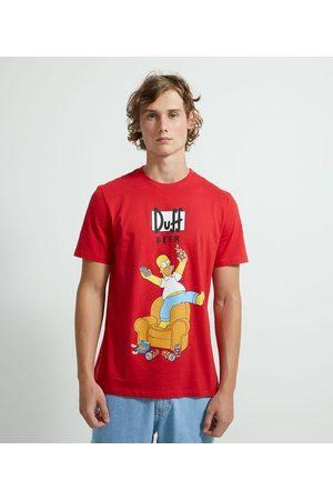 Simpsons Homem Camisolas de Manga Curta - Camiseta com Estampa Homer | | | P