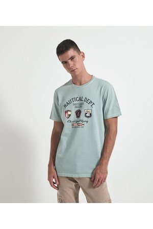 Marfinno Homem Camisolas de Manga Curta - Camiseta Comfort Manga Curta com Estampa | | | G