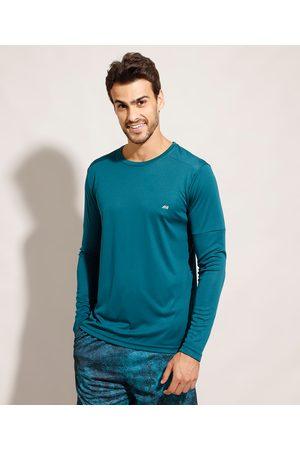 ACE Homem Camisolas de Manga Larga - Camiseta Esportiva Manga Longa Gola Careca com Proteção UV50+