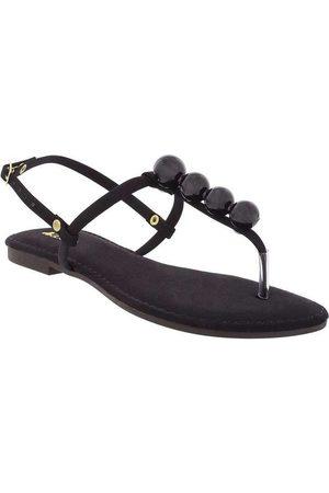 Liberté Thong Sandal com Aplicações Nobuck P