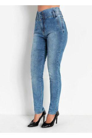 Sawary Jeans Calça Jogger Jeans com Elástico Sawary