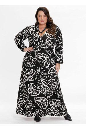 Mink Vestido Plus Size Longo Floral Unicor