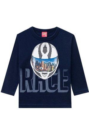 KYLY Camiseta Infantil Masculina Marinho