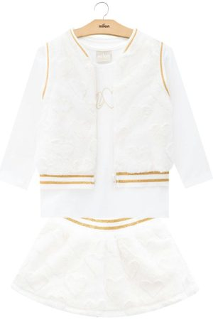MILON Conjunto Infantil Feminino Off White
