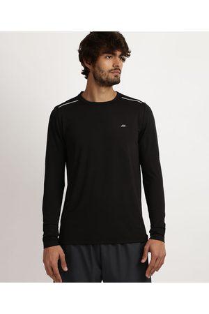 ACE Homem Camisolas de Manga Larga - Camiseta Masculina Running Esporte com Proteção UV 50+ e Tela Respirável Manga Longa e Gola Careca Preta